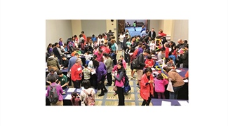 Counting Crowds at the National Mathematics Festival