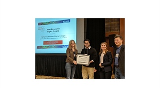 Best Paper Research Award at the SIAM International Conference on Data Mining