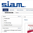 Welcome to the New SIAM Online Bookstore